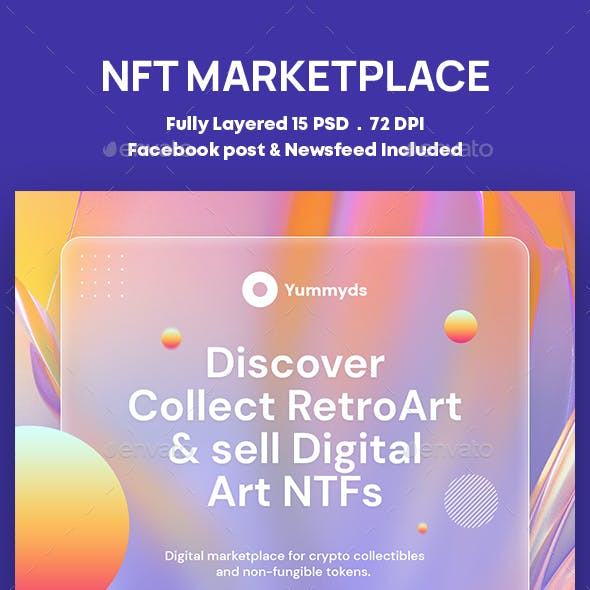 NFT Marketplace and Cryptocurrency Exchange Banners Ad