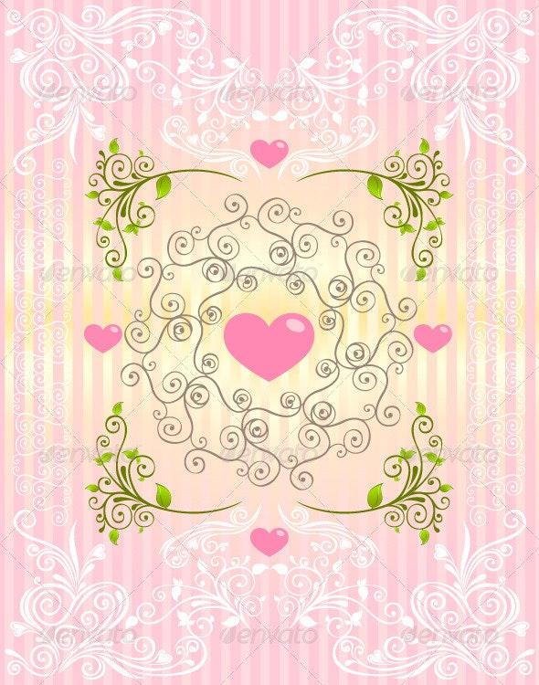 Love Ornament - Flourishes / Swirls Decorative