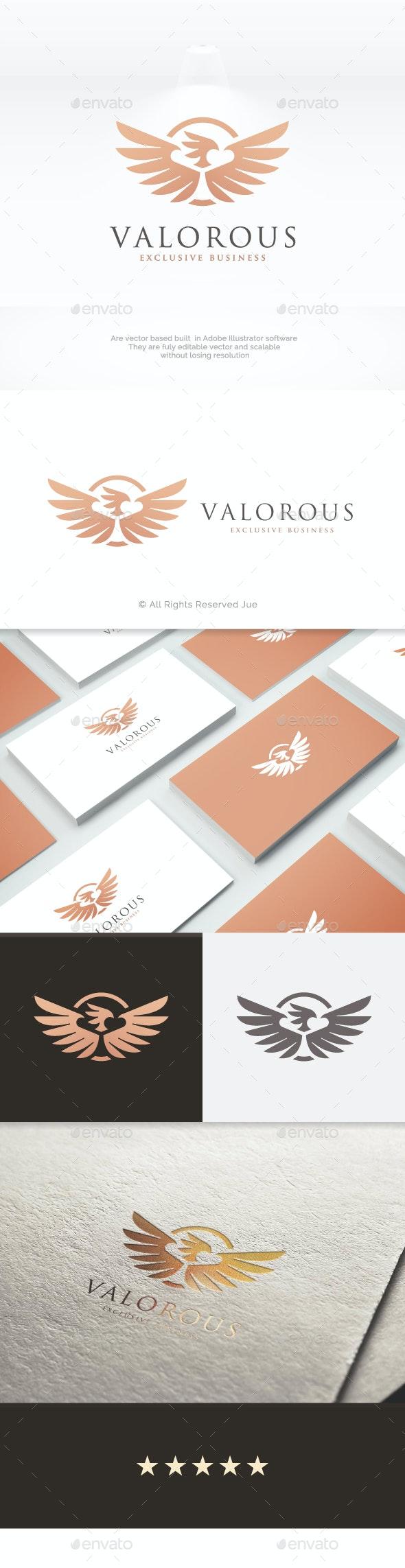 Valorous Eagle Logo - Animals Logo Templates