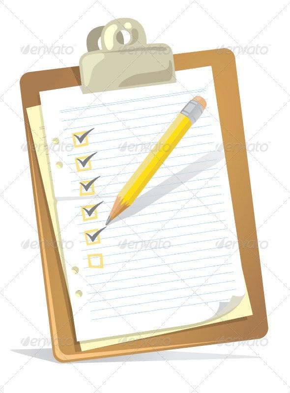 Checklist Clipboard - Commercial / Shopping Conceptual