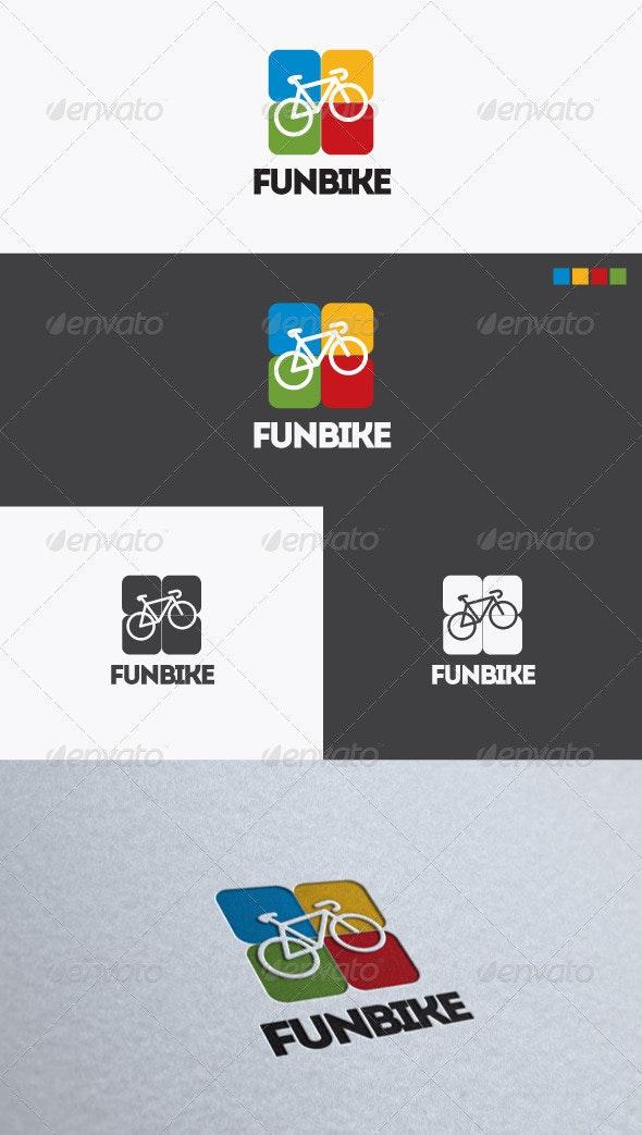 Fun Bike Logo - Objects Logo Templates