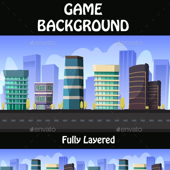 City Game Background  02