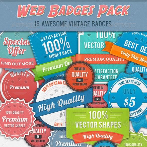 15 Vintage Badges