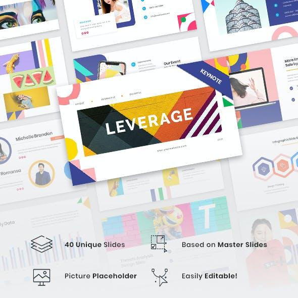 Leverage - Color Geometry Keynote Template