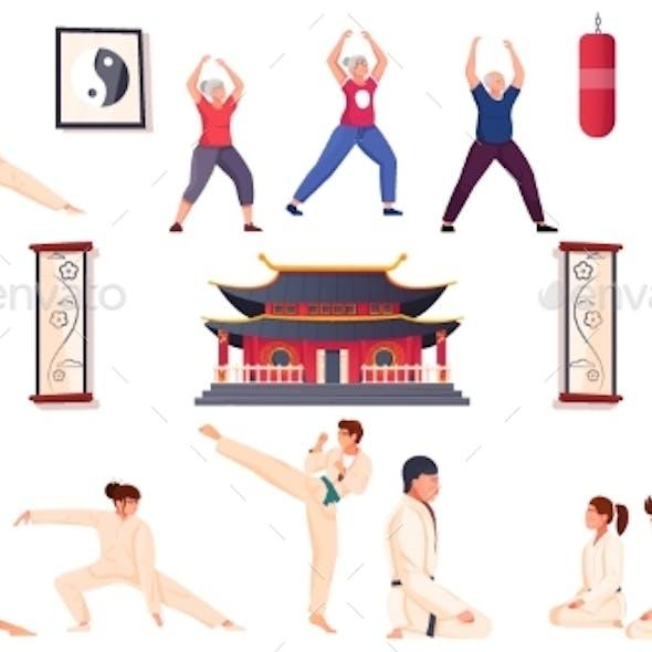 Martial Arts Flat Set