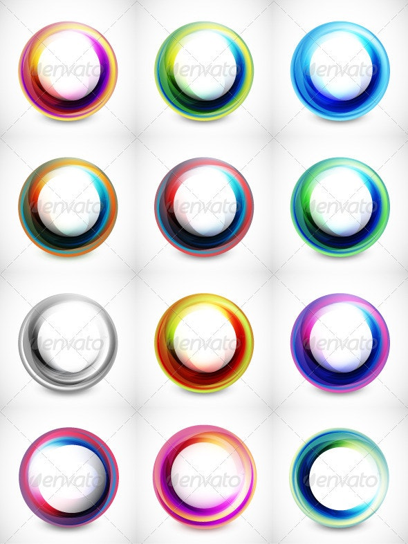 Vector Color Swirls - Decorative Symbols Decorative