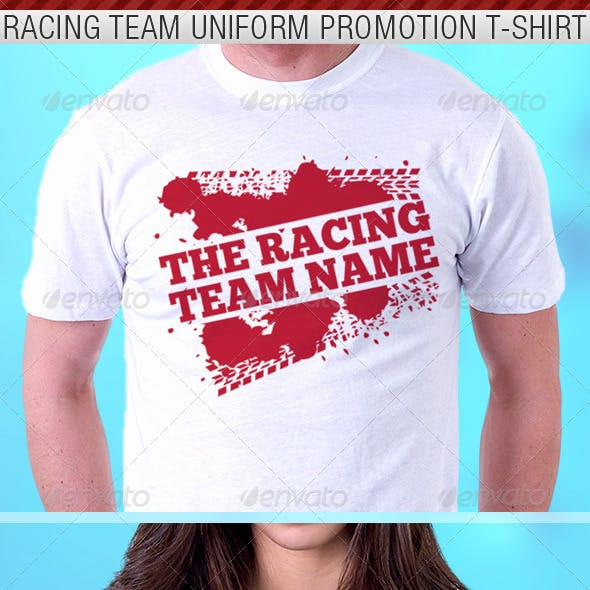 Racing Team Promotion T-Shirt Template