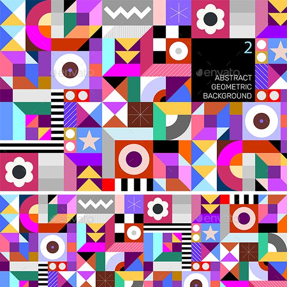 Abstract Geometric Tileable Design