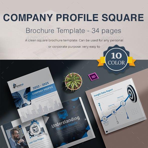 Company Profile | Square | Brochure Template