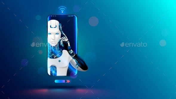 Artificial Intelligence in Phone - Technology Conceptual