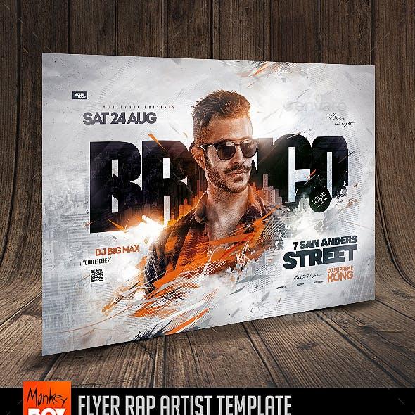 Flyer Rap Artist Template