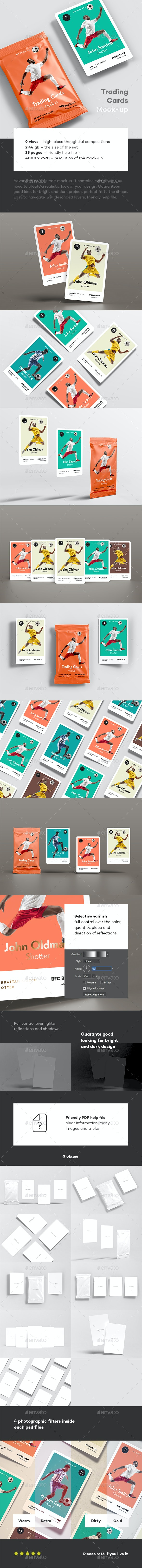 Trading Cards Mock-up - Miscellaneous Packaging