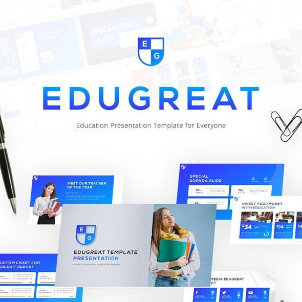 Edugreat Education Modern PowerPoint Template