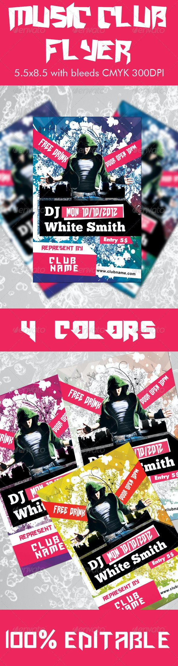 Music Club Flyer - Clubs & Parties Events