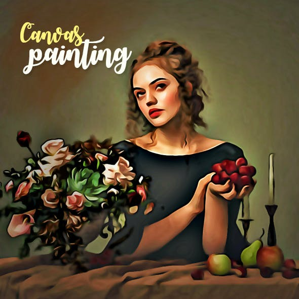 Canvas Painting Photoshop Effect
