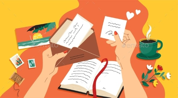 Write Letter - People Characters