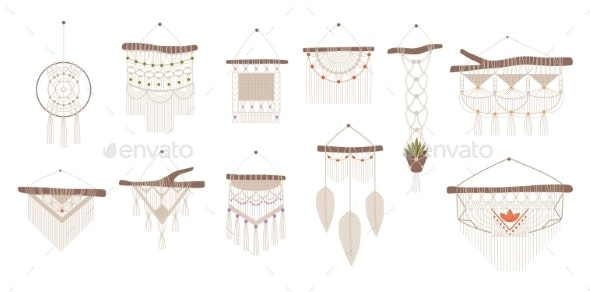 Handcrafted Macrame - Objects Vectors