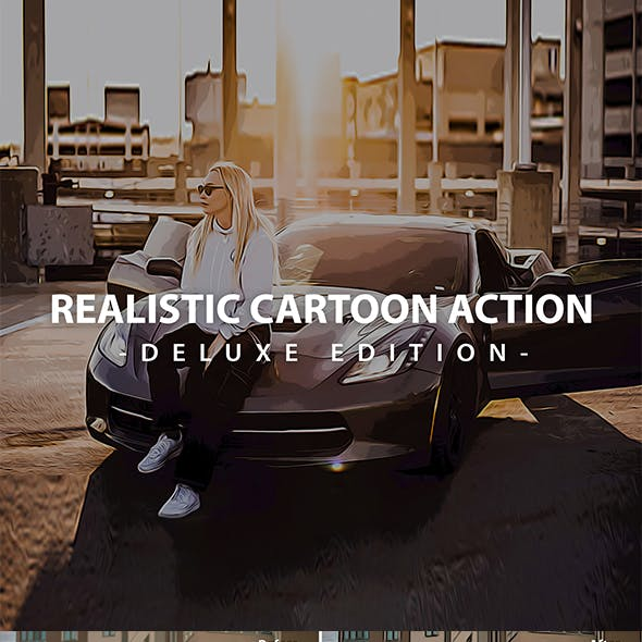 Realistic Cartoon Action Photoshop | Deluxe Edition