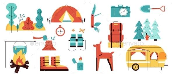 Caravan Camp - Objects Vectors