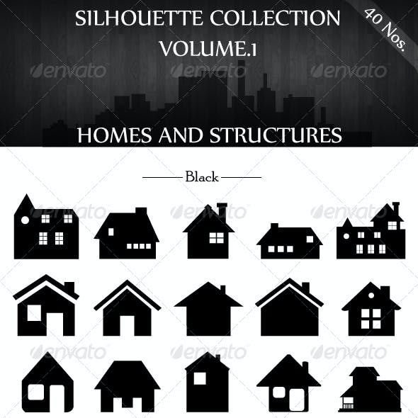 Silhouette Collection Vol.1 - Homes and Structures