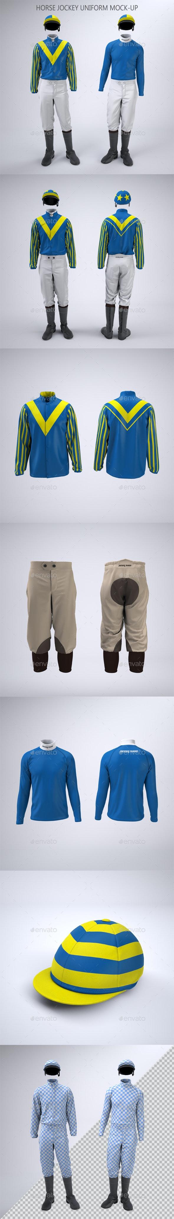 Horse Racing Jockey Uniform Mock-Up - Apparel Product Mock-Ups