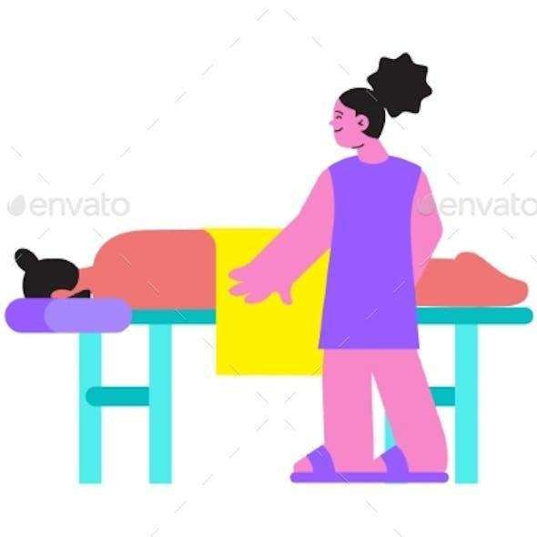 Massage Flat Icon