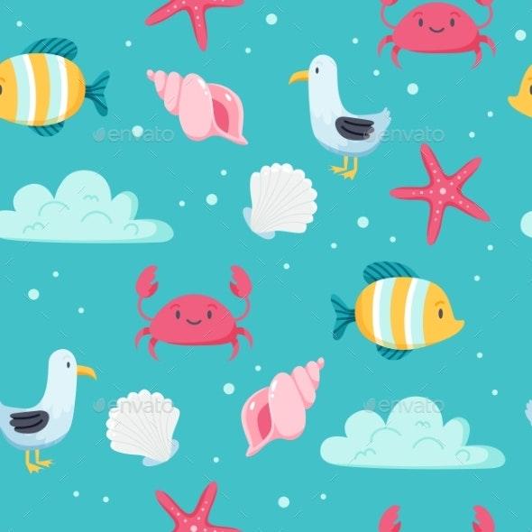 Summer Sea Pattern - Seasons/Holidays Conceptual