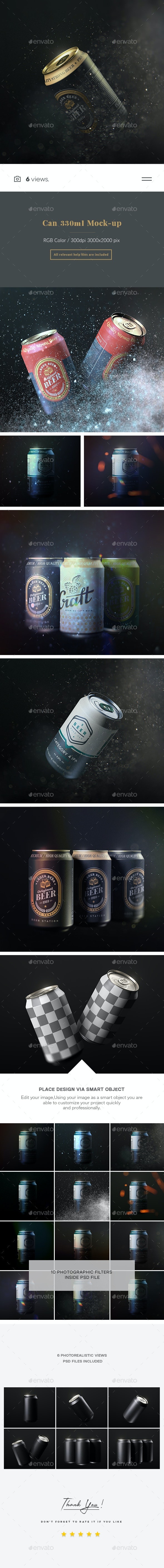 Can 330 ml - Mock up - Product Mock-Ups Graphics