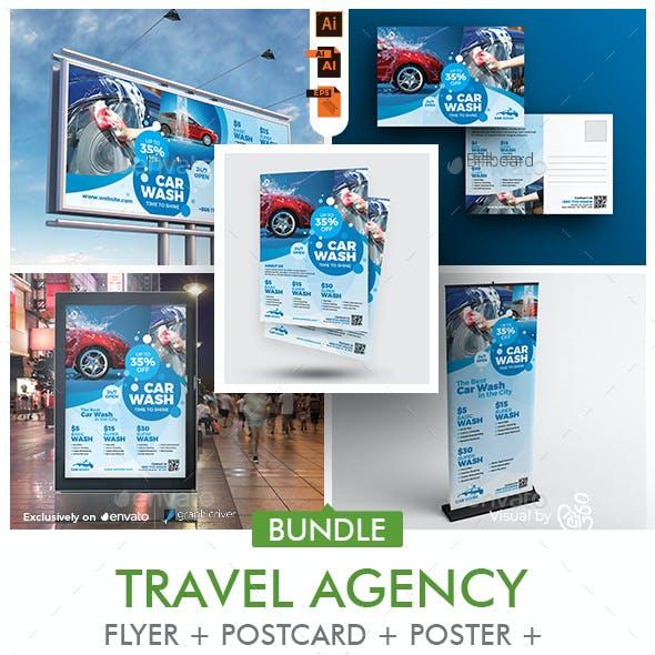 Car Wash Promotional Bundle Print Template