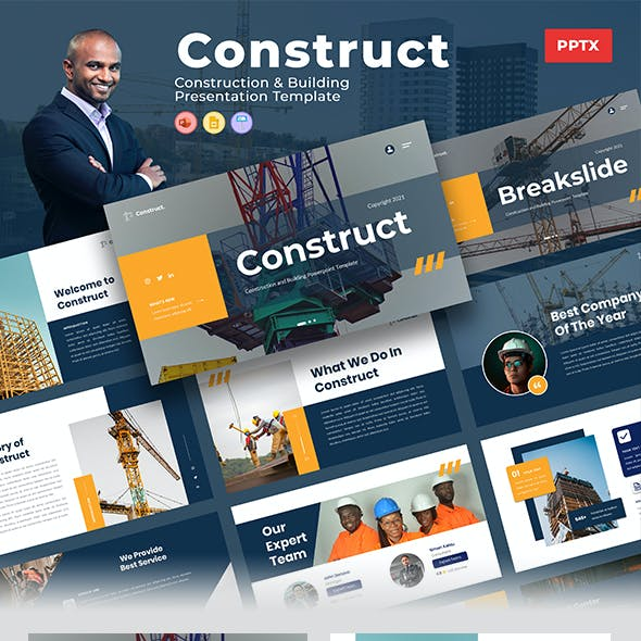 Construct – Construction & Building PowerPoint Template