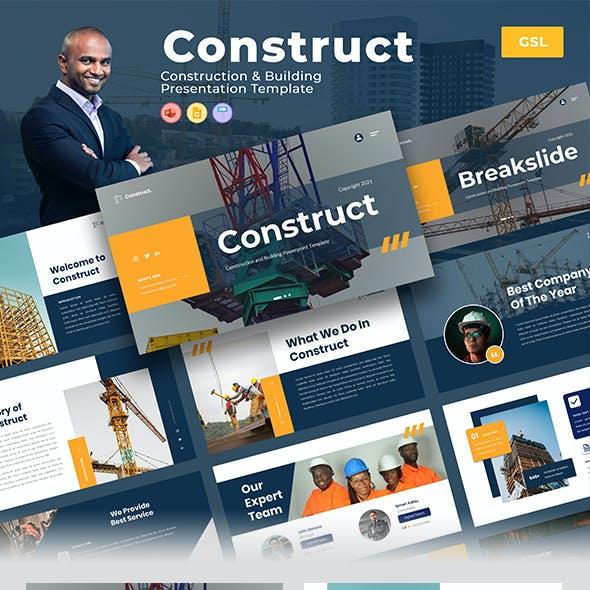 Construct – Construction & Building Google Slides Template