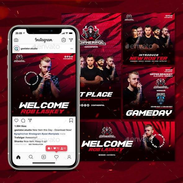 E-Sports Social Media Template