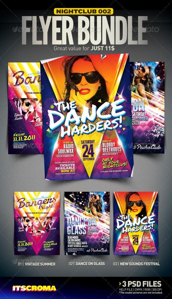 Nightclub Flyer Bundle | 002 - Clubs & Parties Events