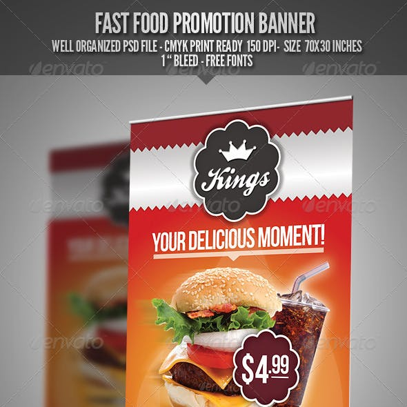 Fast Food Promotion Banner