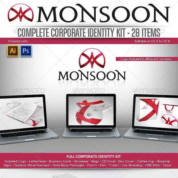 Corporate Identity Kit - Monsoon