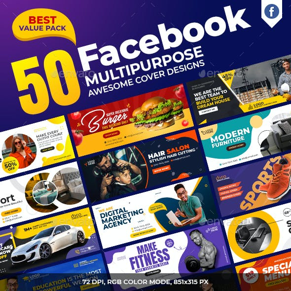 50 Facebook Cover Pack