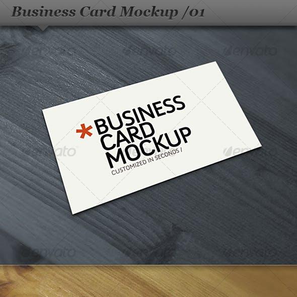Business card mockup display - Smart template 01