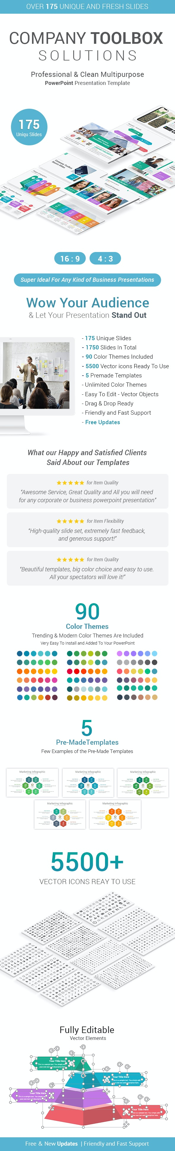 Company Toolbox PowerPoint Presentation Template - Business PowerPoint Templates