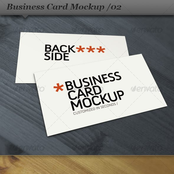 Business card mockup display - Smart template 02