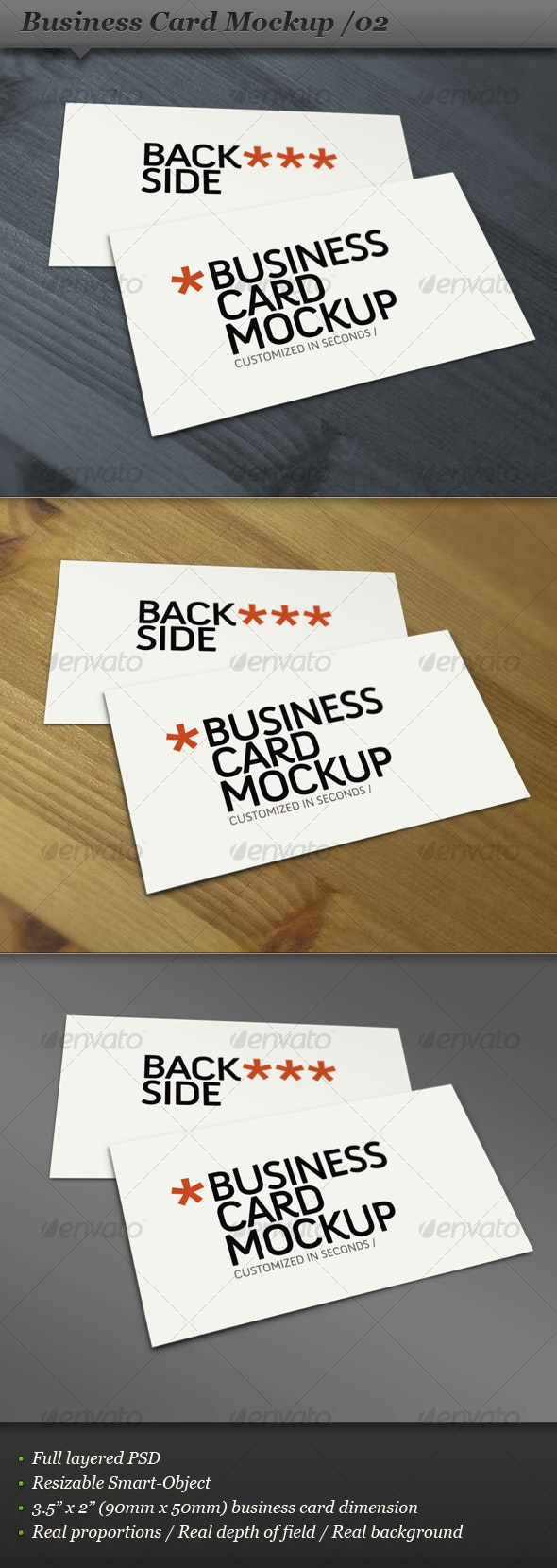 Business card mockup display - Smart template 02 - Business Cards Print