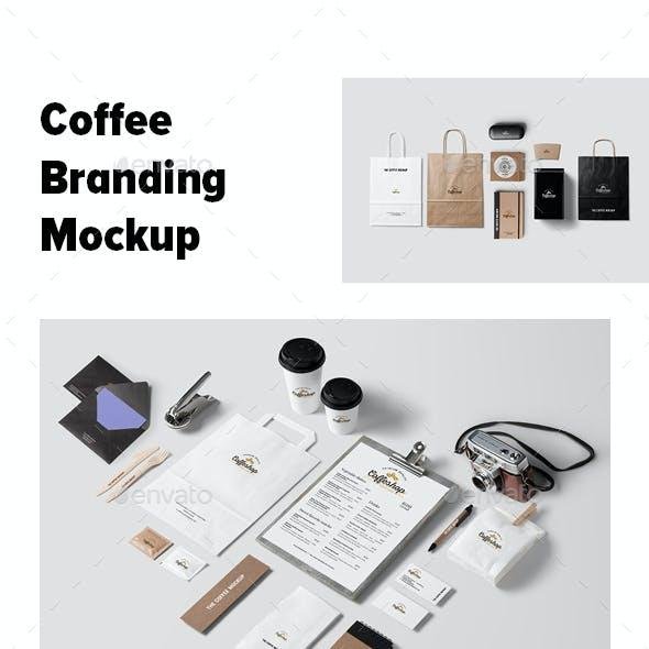 Coffee Branding and Stationery Mockup
