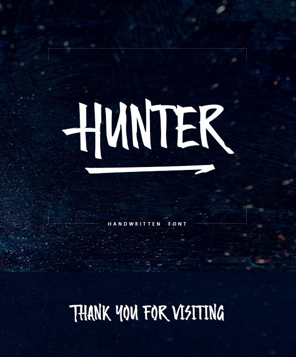 Hunter Handwritten Font - Hand-writing Script