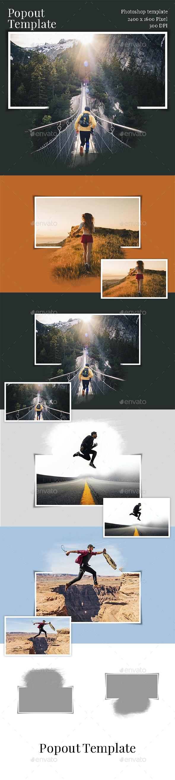 Popout Photo Template - Artistic Photo Templates