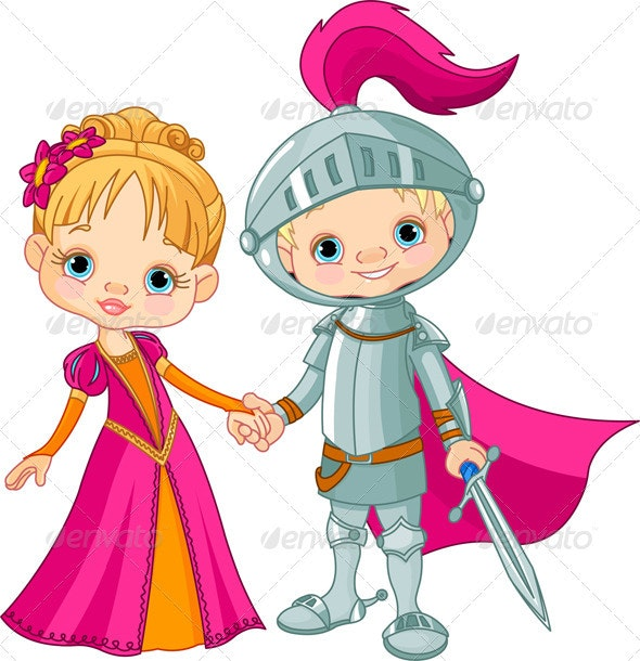 Medieval Boy and Girl - People Characters