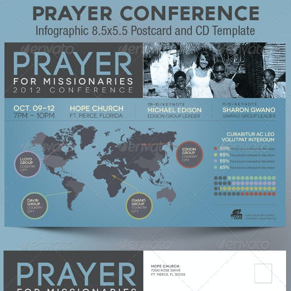 Prayer Conference Church Flyer CD Template