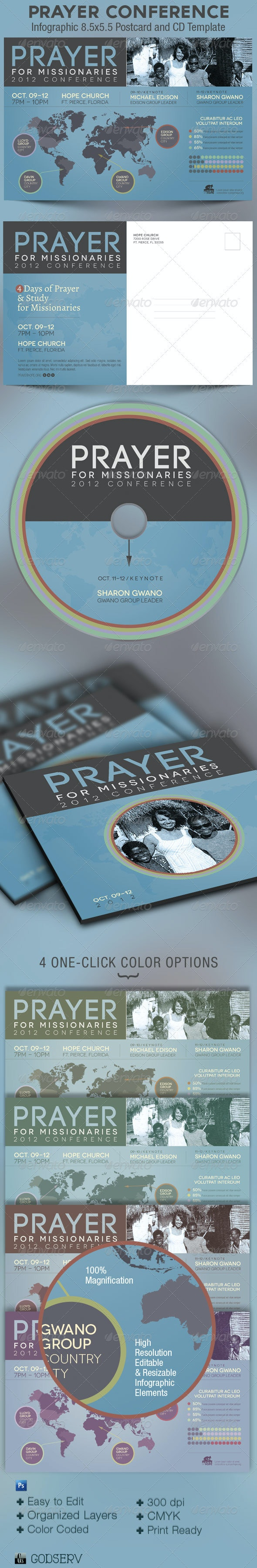 Prayer Conference Church Flyer CD Template - Church Flyers