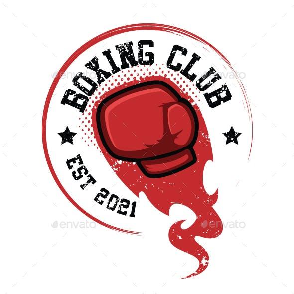 Grunge boxing club T-Shirt design