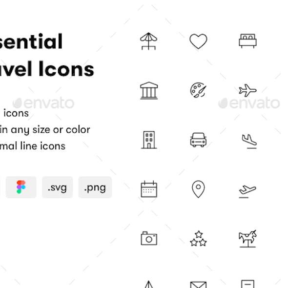 Essential Travel Icons