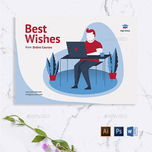 Online Courses Greeting Card