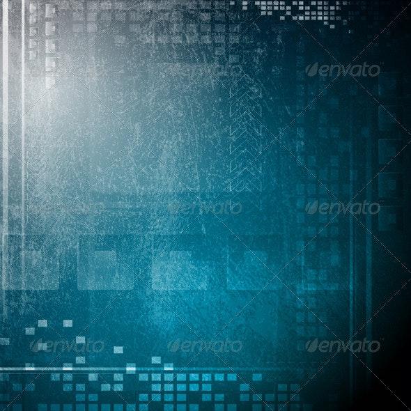 Grunge hi-tech backdrop - Backgrounds Decorative